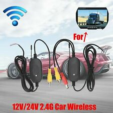 Wireless RCA Video Transmitter & Receiver For Car RCA Backup Camera Monitor UK
