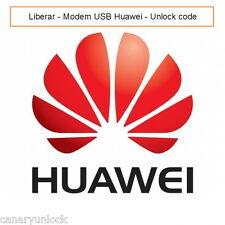 HUAWEI Código de liberación MODEM/ROUTER Unlock code Worlwide/Mundial