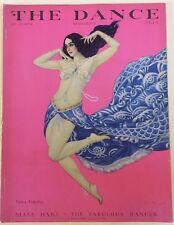 The Dance Magazine July 1929 w/Carl Link art deco cover of Vera Fokina
