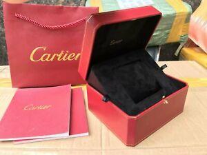 Genuine Cartier Red Watch Presentation Box Black Flannel Luxury Case VIP Gift ♚♚