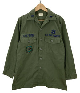 Vintage USAF Air Force Paratrooper Utility Combat Shirt 15 1/2x 31