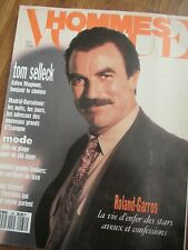 VOGUE Hommes 6/1990 Tom Selleck HERB RITTS Carl Lewis SUSAN HOLMES Daho PARADIS