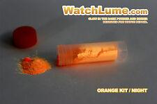 Resplandor naranja en la oscuridad Pintura Reloj Lume Luminoso Pasta Kit Lume para reloj las manos