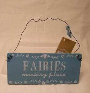 """Fairies Meeting Place by Sass & Belle Small Wall Hanging Plaque 7.5""""x3.5"""""""