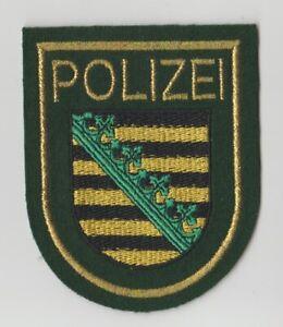 Polizei  Sachsen  --  grün  --  Lurex  --