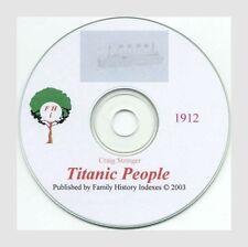 TITANIC PEOPLE CD - unique bios, ALL ABOARD, crew/pass