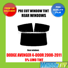 DODGE AVENGER 4-DOOR 2008-2011 5% LIMO REAR PRE CUT WINDOW TINT