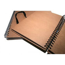 A3 Seawhite Brown KRAFT CARD Spiral Hardback Sketchbook,Display Book,Scrapbook