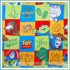 BonEful Fabric Cotton Flannel VTG Quilt Block DISNEY TOY STORY Woody Buzz Alien