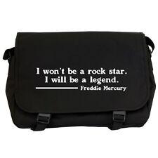 Freddie Mercury Rock Star Quote Black Messenger Flight Bag queen fans NEW