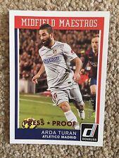 +++ ARDA TURAN 2015 PRESS PROOF #'D FOOTBALL CARD #5 - ATHLETICO MADRID +++