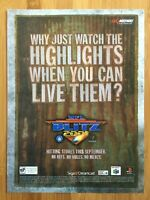NFL Blitz 2001 N64 PS1 Vintage Game Poster Ad Art Official Promo Football Rare!