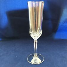 lot of 3 crystal champagne flutes  wedding shower table