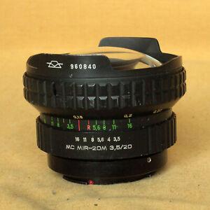 Mir 20-M MC multicoated 20/3.5 20mm Russia very wide lens Pentax K CLA works