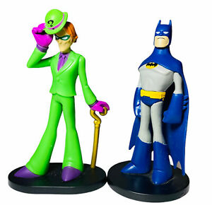 "Batman And The Joker 2 Funko Mini Figures Figurines Toy Cake Topper 4"""