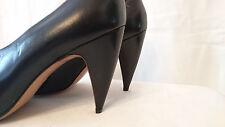"""Escarpins Haut de gamme F.67 --  Cuir """"Noir""""   --  I.BOSSI  --  T. 40"""