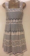 Topshop Premium Parasol Beige Cream Lace Mini Short Dress Bare Black S 10 34
