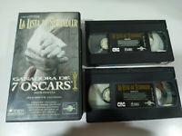 La Lista de Schindler Steven Spielberg Liam Neeson 2 x VHS Cinta Tape Español 2T