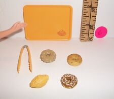 FASHION DOLL MINIATURE RE-MENT 1/6 RETIRED DONUTS TRAY & TONGS FOOD ACCESSORY #6