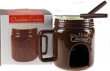 Taza De Fondue Chocolate Marrón-Conjunto de Regalo