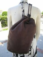 COACH BROWN LEATHER VINTAGE LARGE BACKPACK HANDBAG