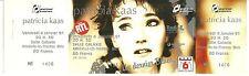 RARE / TICKET BILLET DE CONCERT - PATRICIA KAAS LIVE A METZ 1991