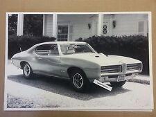 """1969 Pontiac GTO 2 door hardtop 12 X 18"""" Black & White Picture *"""