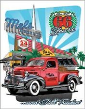 Mel's Drive In Diner Hollywood TIN SIGN Metal Vintage Restaurant Poster Decor
