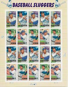 2006 39 cent Baseball Sluggers full Sheet of 20, Scott #4080-4083, Mint NH