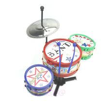 Children Kids Colorful Plastic Musical Instruments Toy Drum Drum Kit Set