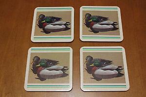 Vintage Coasters Mallard Ducks Old New Stock Box Made in USA