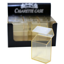 (12 Pack) Cigarette Case/Box King Size Cigarettes Flip Top Plastic - Clear