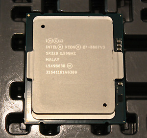 Intel Xeon E7-8867v3 16-Core 2.5GHz 45Mb 9.6GT/s LGA2011 CPU - SR228 - CLEAN!
