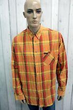 MARLBORO CLASSICS Camicia Uomo Taglia 2XL Cotone Shirt Casual Manica Lunga