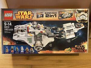 Lego Star Wars Rebels 66512 2 In 1 Bundle 75053 Ghost & 75048 Phantom SEALED!