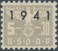 Stamp Germany Revenue WWII 1941 3rd Reich War Era Party Dues 05.30 MNG