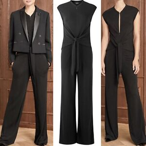 me and em black day to evening jumpsuit jersey Me + em size 12 , M Zip Front New