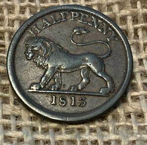 1813 Half Penny Token Copper