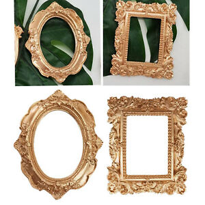 Vintage Gold Ornate Textured Hand-Crafted Resin Picture Frame Tabletop Display