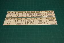 Mitsubishi Intercooler Turbo 240mm Decalcomanie Adesivi Grafici Pajero Shogun