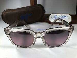 Maui Jim Heliconia MJ 739-05B Clear Hint Of Pink Sunglasses Maui Rose Polarized