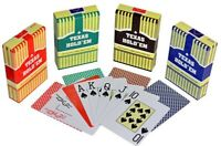 10 Decks TEXAS HOLD EM  100% Plastic Playing Cards Poker Size Compares to Copag