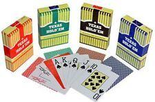 TEXAS HOLD EM 100% Plastic Playing Cards Poker Size Jumbo Index Compare to Copag