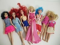 Barbie style dolls  Lot of 6 Dolls Mostly dressed