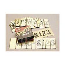 """C.H. Hanson 10068 1"""" Brass Interlocking Stencils Letters & Numbers, 45 Piece Set"""