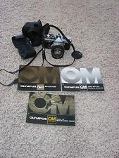 Vintage Olympus OM-2 Film Camera w 1:1.4  f=50mm Camera Lens, Case & 3 Manuals