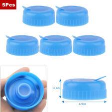 5Pcs 55mm Anti Splash Lids for_Gallon Drinking Water Bottle Screw on Caps Blue