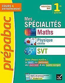 Prépabac Mes spécialités Maths, Physique-chimie, SVT 1re: ... | Livre | état bon