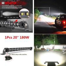1x Single Row 180W Aluminum 6D Spot Beam Slim LED Work Light Bar Off-Road Lamps