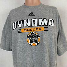 Adidas Houston Dynamo Orange Crush T-Shirt MLS Soccer Heather Grey Size XL